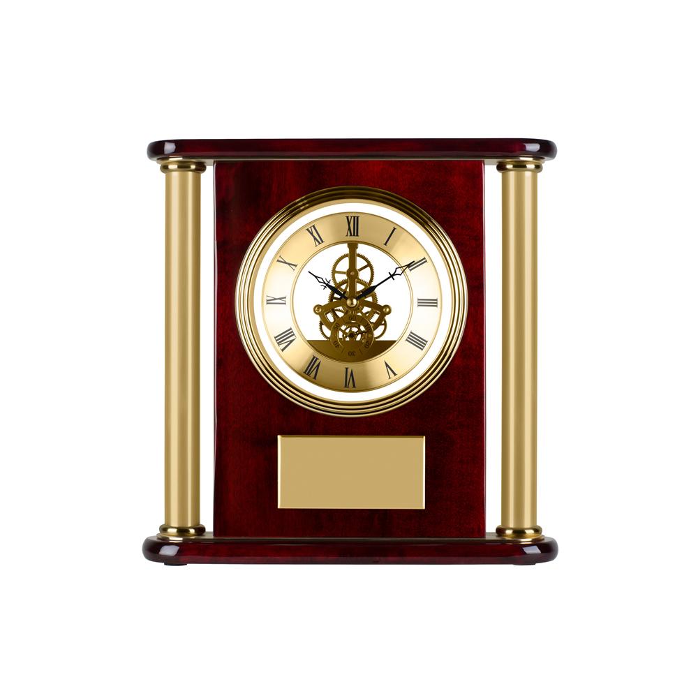 12 x 11 Inch Pillar Timezone Presentation Clock