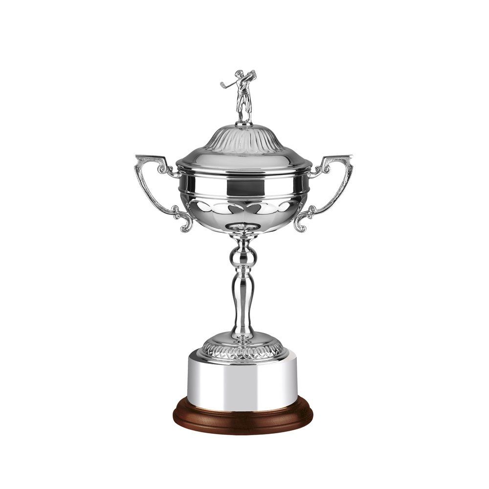 9 Inch Patterned Cup Golf Stableford Trophy Cup