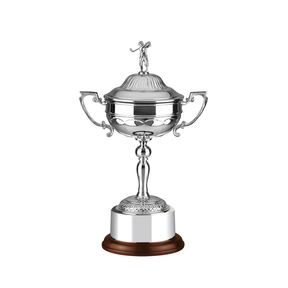 14 Inch Patterned Cup Golf Stableford Trophy Cup
