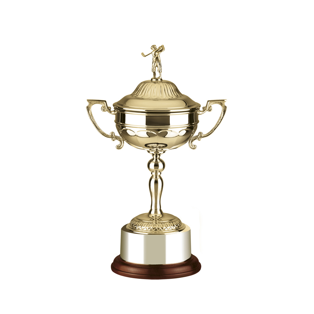 10 Inch Swinging Golf Figure Golf Stableford Trophy Cup