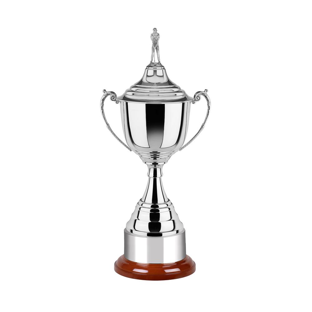 8 Inch Mirror Finish & Round Base Revolution Trophy Cup