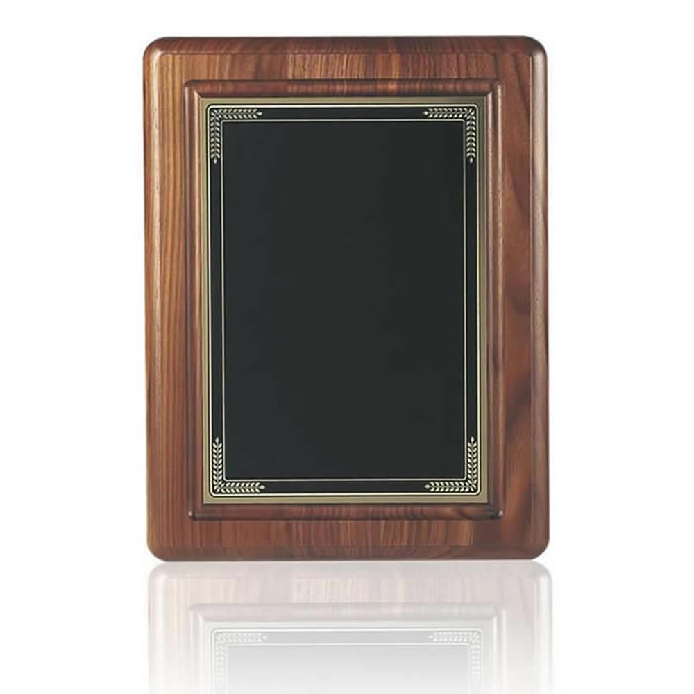 13 x 10 Inch Black Coated Brass Plate Victory Plaque
