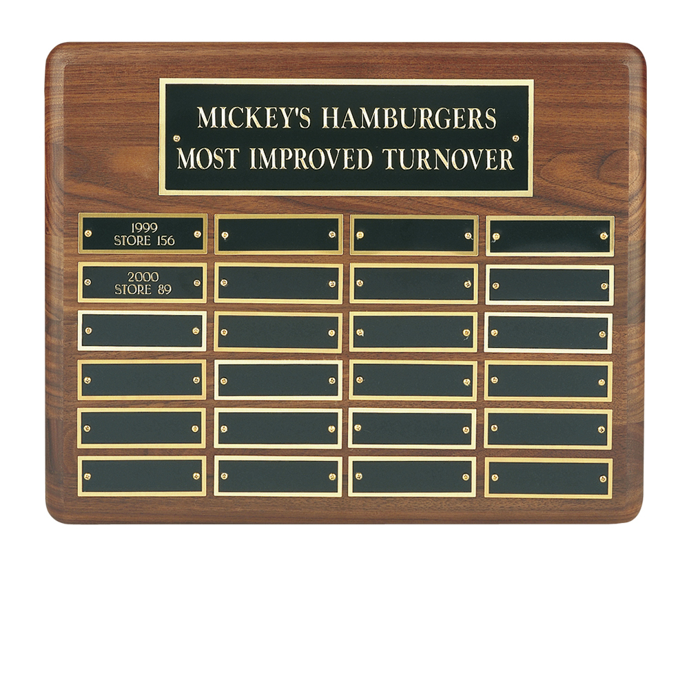 10 x 13 Inch Traditional American 24 Entry Victory Plaque