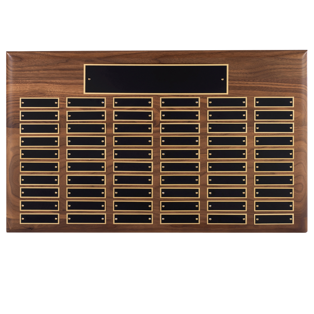 15 x 21 Inch Traditional American 60 Entry Victory Plaque