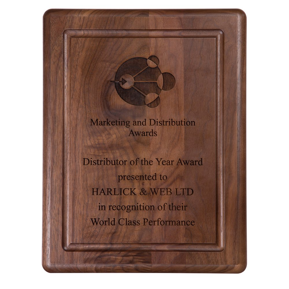 13 x 10 Inch Solid Walnut Finish Victory Plaque