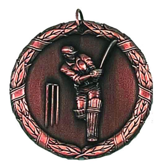 50mm Bronze Laurel Cricket Medal