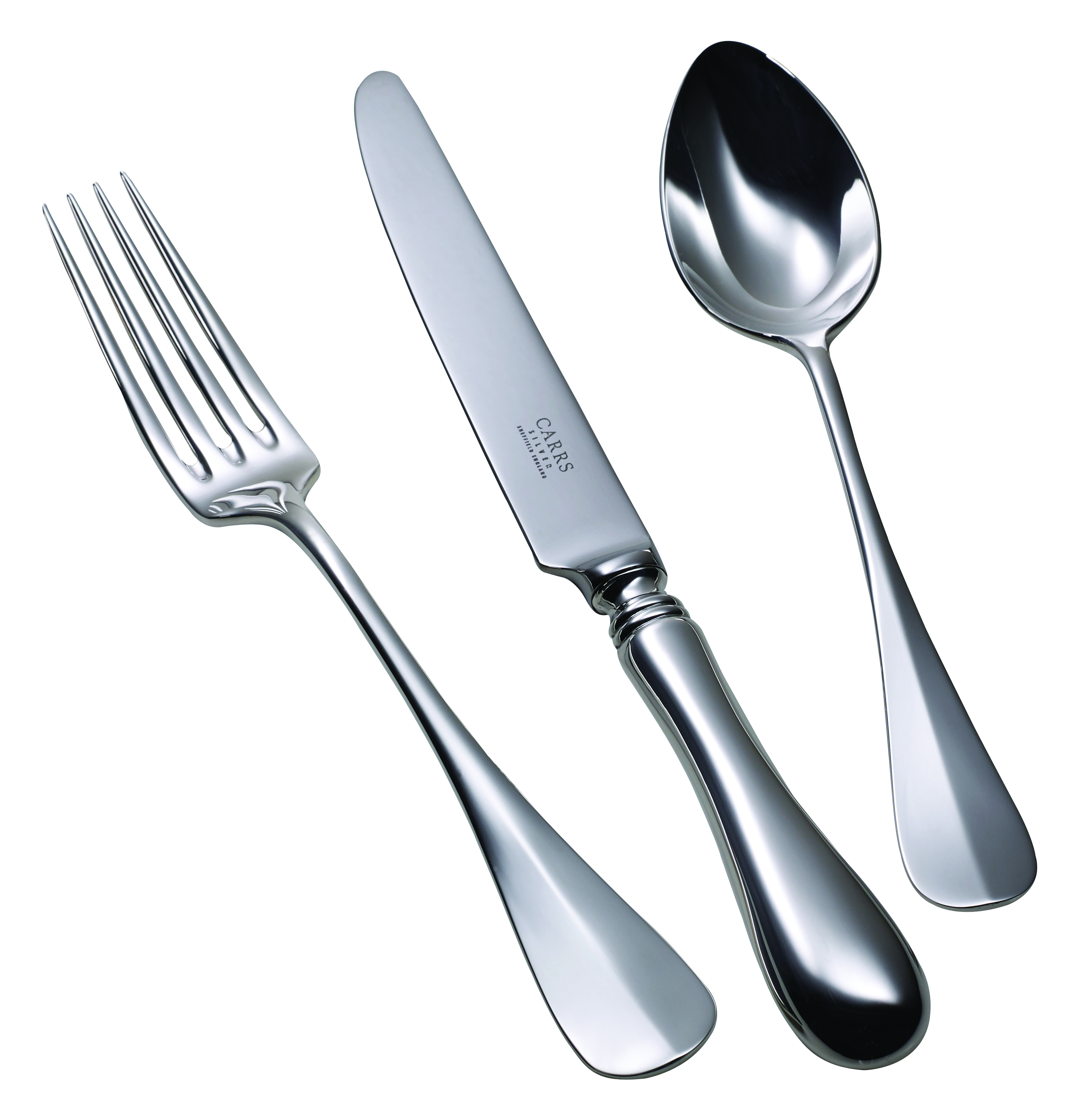Children's Silver Cutlery Set Baguette Grip