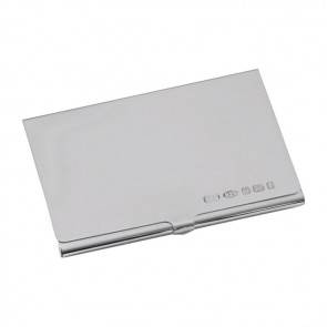 Personalised engraved business card holders unique feminine sterling silver credit or visiting card case reheart Gallery