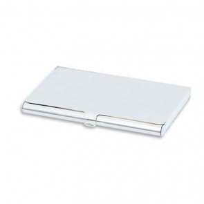 Personalised engraved business card holders unique feminine silver plated plain business card holder reheart Images