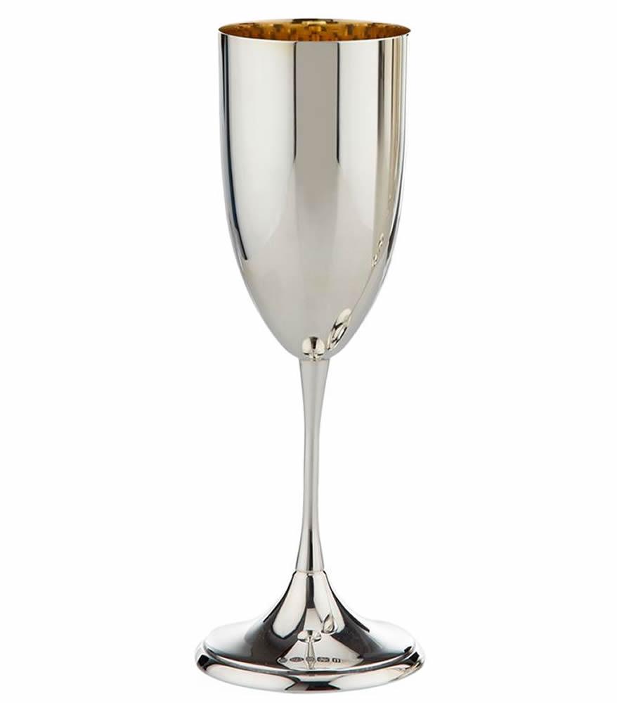 Silver Champagne Flute Single