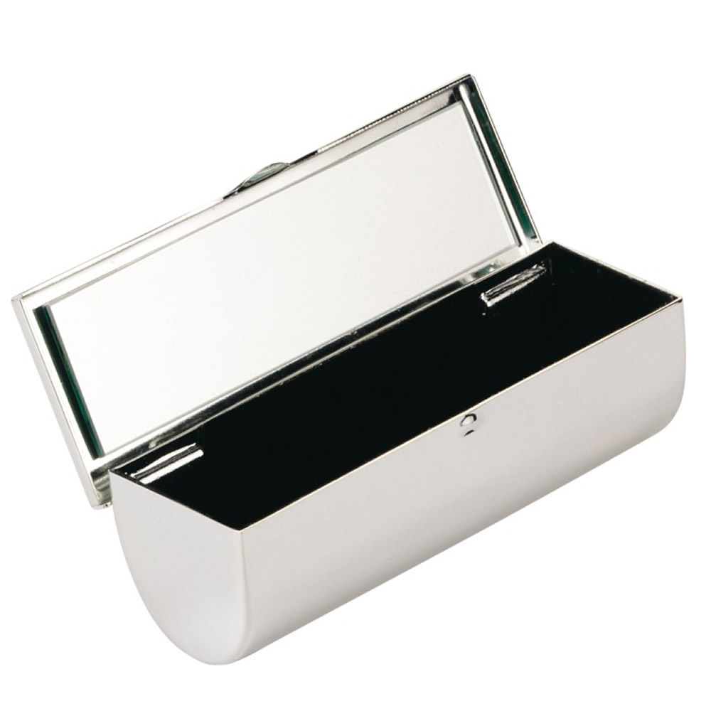 Silver Plated Lipstick Case