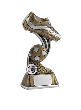 6 Inch Boot & Ball Football Golden Lion Award