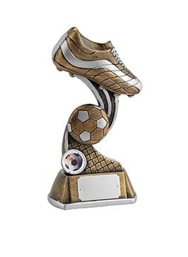 6 Inch Boot & Ball Football Golden Lion Award