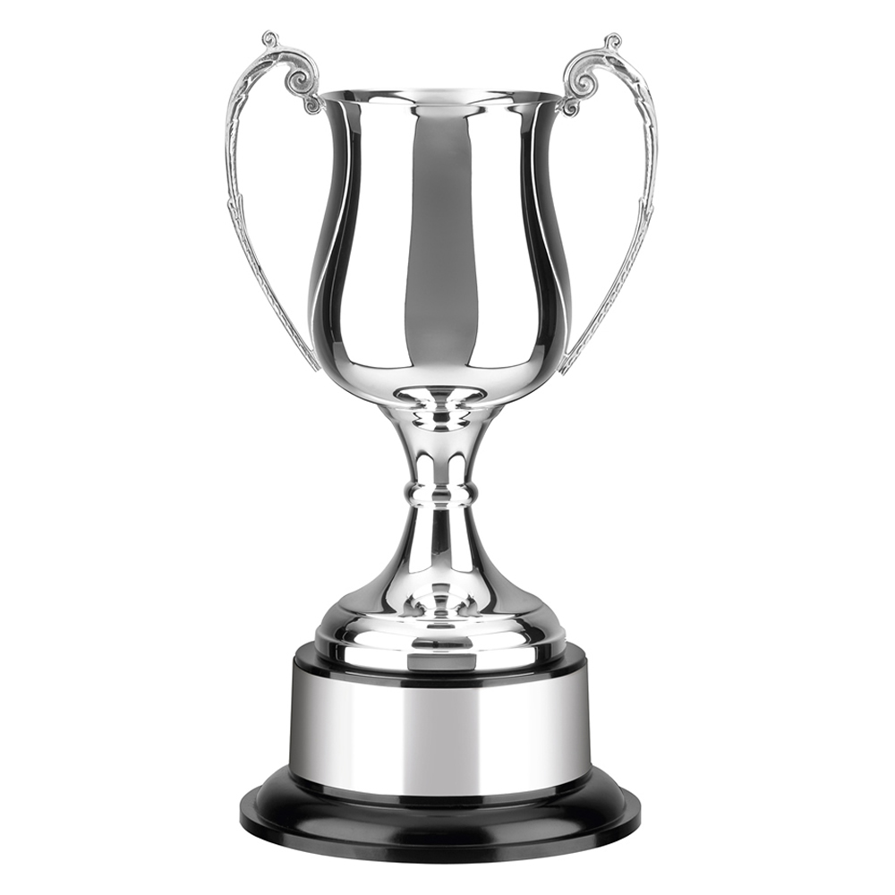 9 Inch Georgian Cup & Black Plinth Patriot & Colonial Trophy Cup