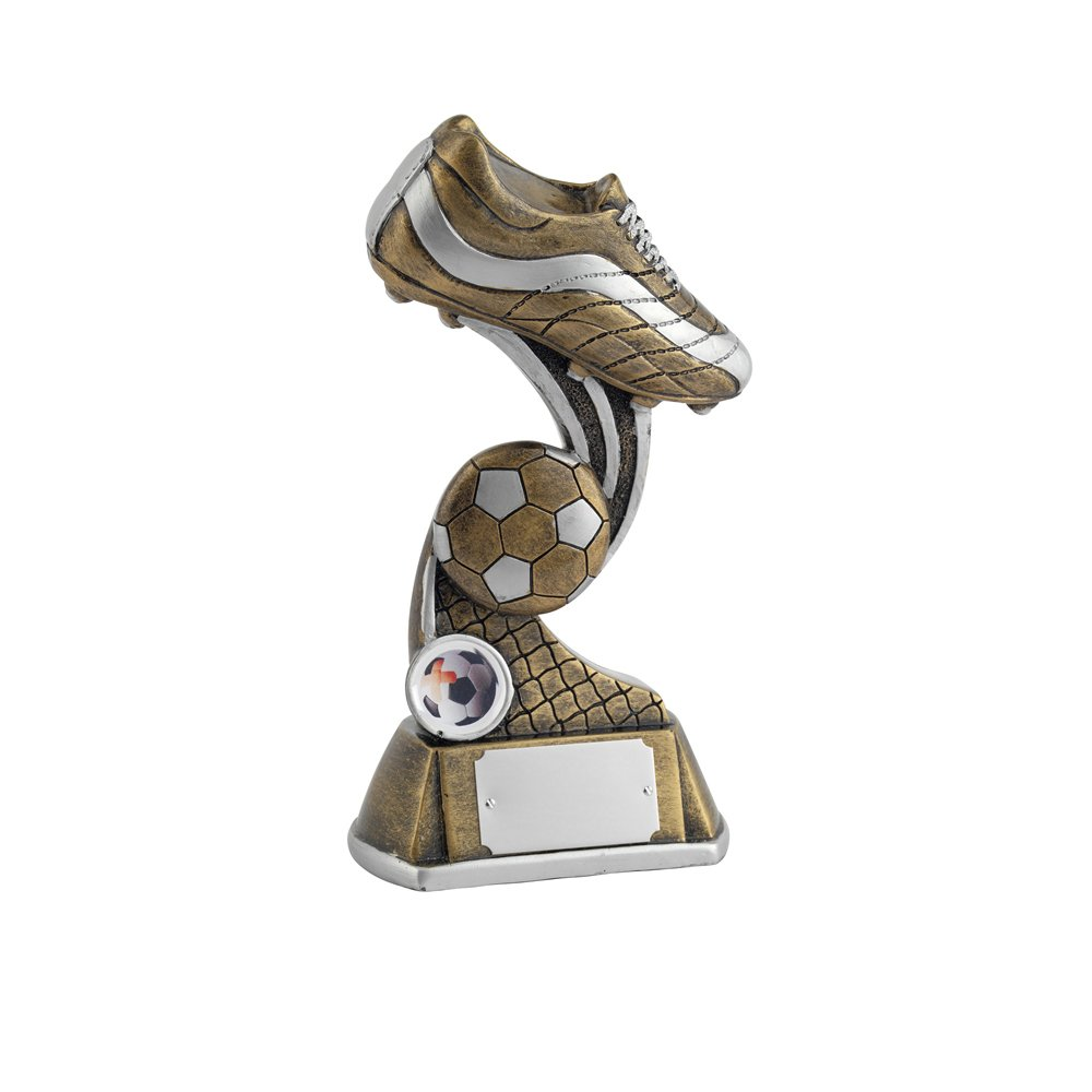 8 Inch Boot & Ball Football Golden Lion Award